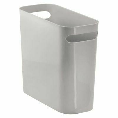 mdesign plastic wastebasket trash can