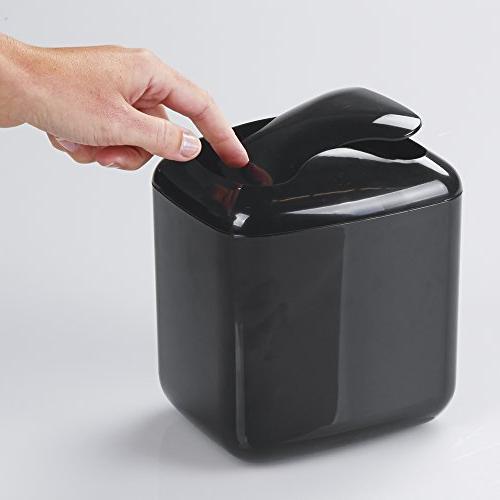 mDesign Mini Dispenser Lid for or Tabletop of Rounds, Makeup Sponges, Tissues -