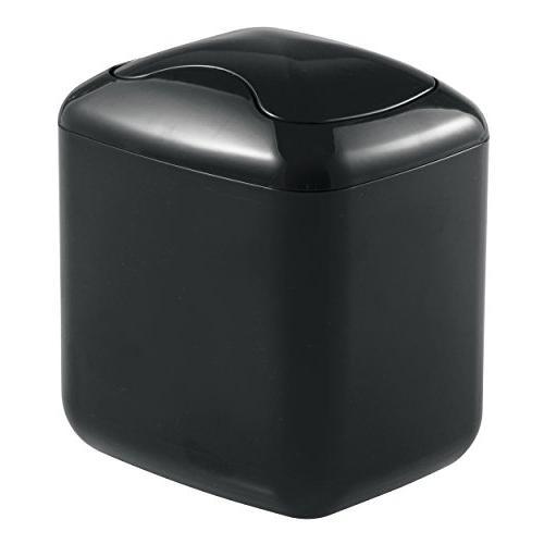 mDesign Mini Wastebasket Dispenser Swing for Bathroom Vanity or of Sponges, Tissues -