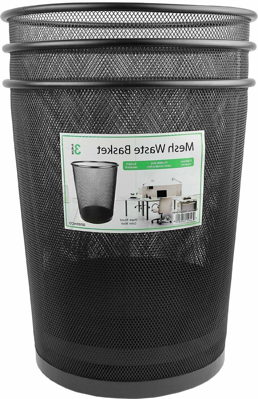 Greenco Mesh Wastebasket 3 Pack, Fast Shipping