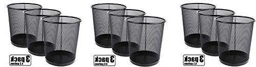 mesh wastebasket trash can