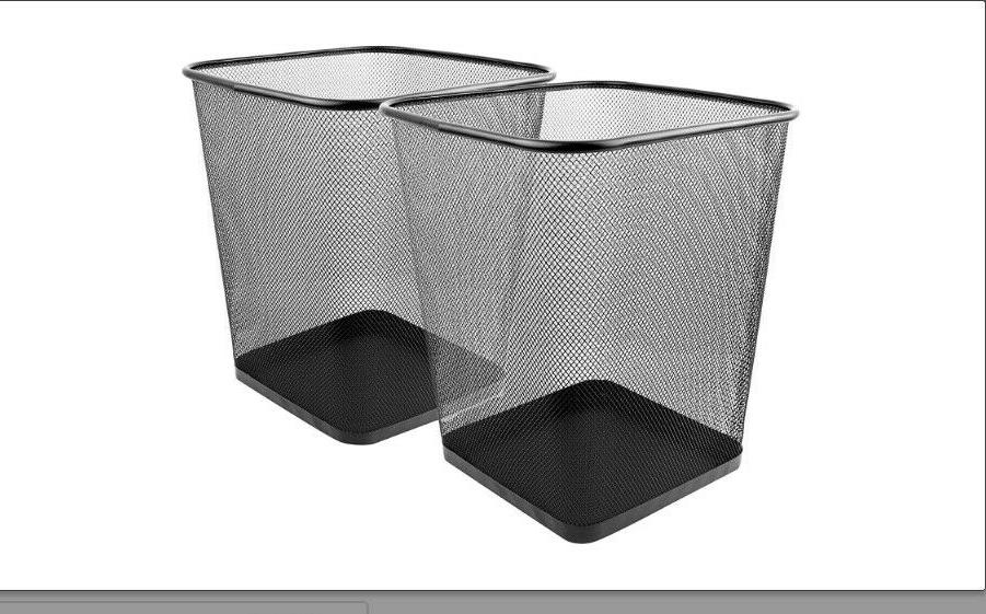 mesh wastebasket trash can home square 6