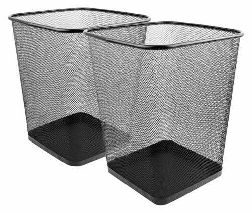 mesh wastebasket trash can square