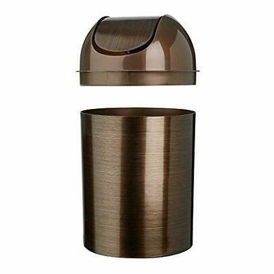 Umbra Mezzo Swing-Top Waste 3PC Trash Can 2.5-Gallon GOLD/BRONZE