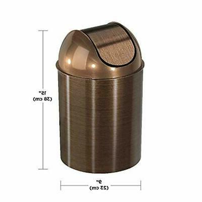 Umbra Swing-Top Waste 3PC Trash Can GOLD/BRONZE