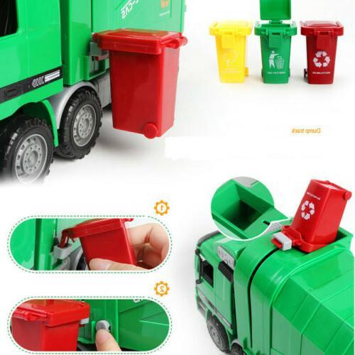 Mini Toy Garbage Truck Original Color Bin