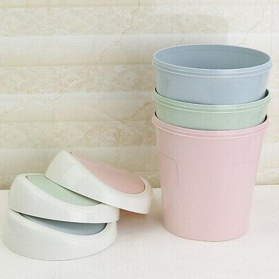 Mini,Small Trash Garbage Can Plastic Swing Lid Bathroom Kitc