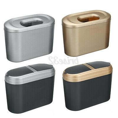 Mini Waste Desktop Garbage Basket Home Office Trash Can With