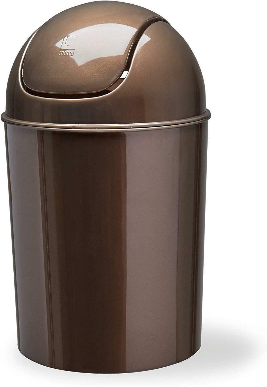 Umbra Mini Small Trash Garbage Can Plastic Swing Lid