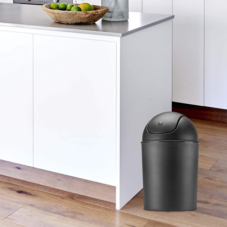 Mini Small Can Plastic Lid Bathroom Bin