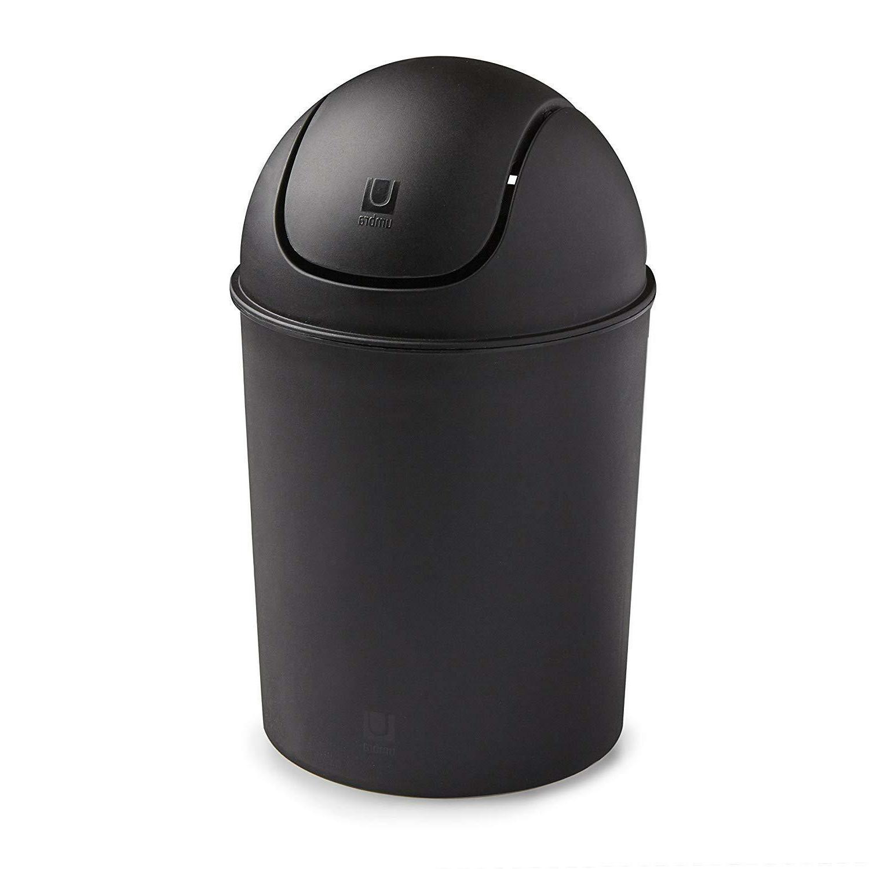 mini small trash garbage can plastic swing