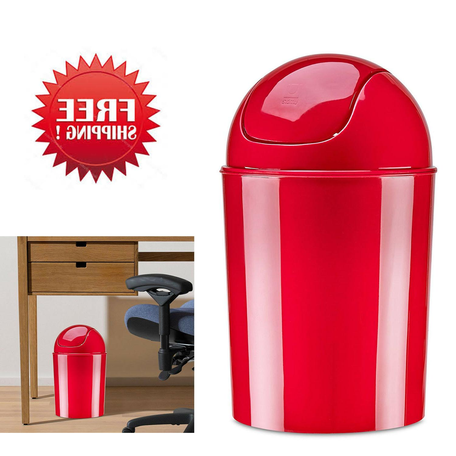 Umbra Mini Waste Can, 1-1/2 Gallon with Swing Lid
