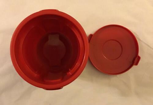 """Miniature BRUTE 4.5"""" Inch Desk MINI W Lid RED"""