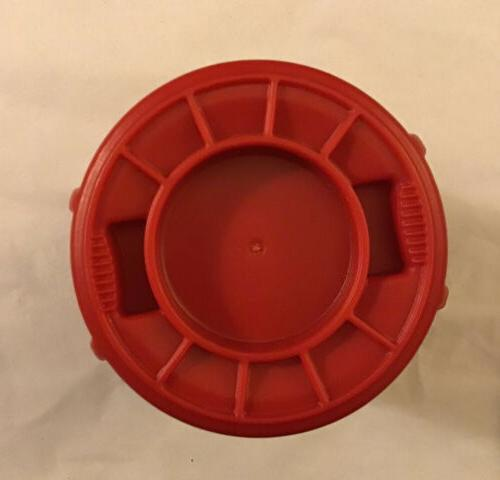 Miniature Rubbermaid Inch Desk MINI Can Lid RED