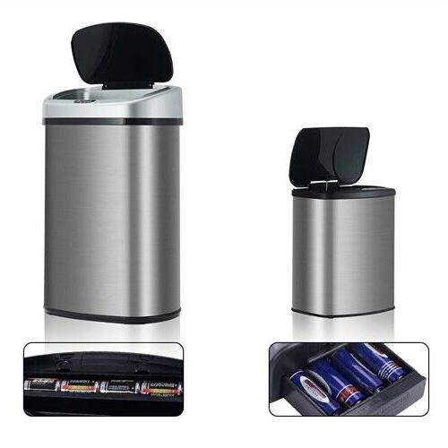 Modern No-Touch Motion Activated Kitchen Trash Can - Set of
