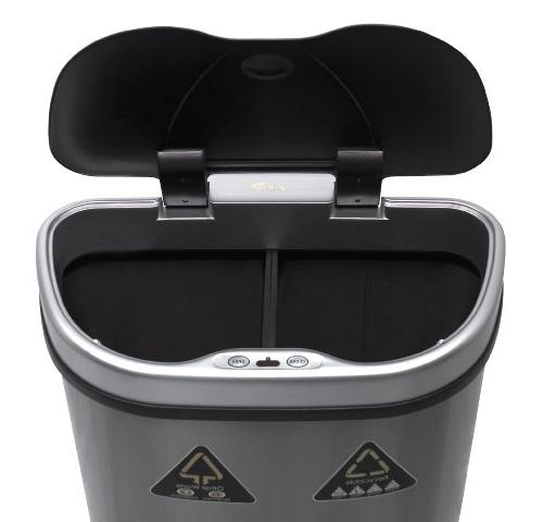Nine 18.5-Gallon Motion Sensor Recycle Trash Can,