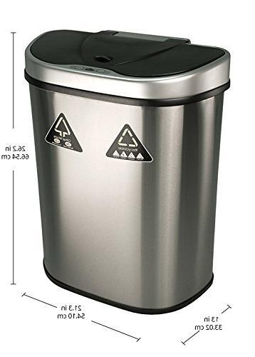 Nine Sensor Unit and Trash Can,