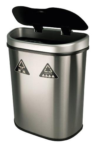 Nine Stars Sensor Recycle Trash Can, Stainless