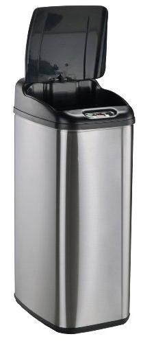 Nine Slim Touchless 13.2-Gallon Trash Can