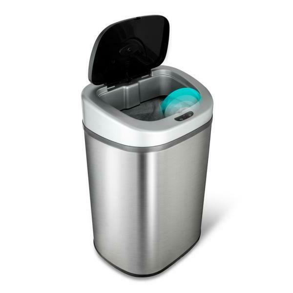 motion sensor stainless steel trashcan