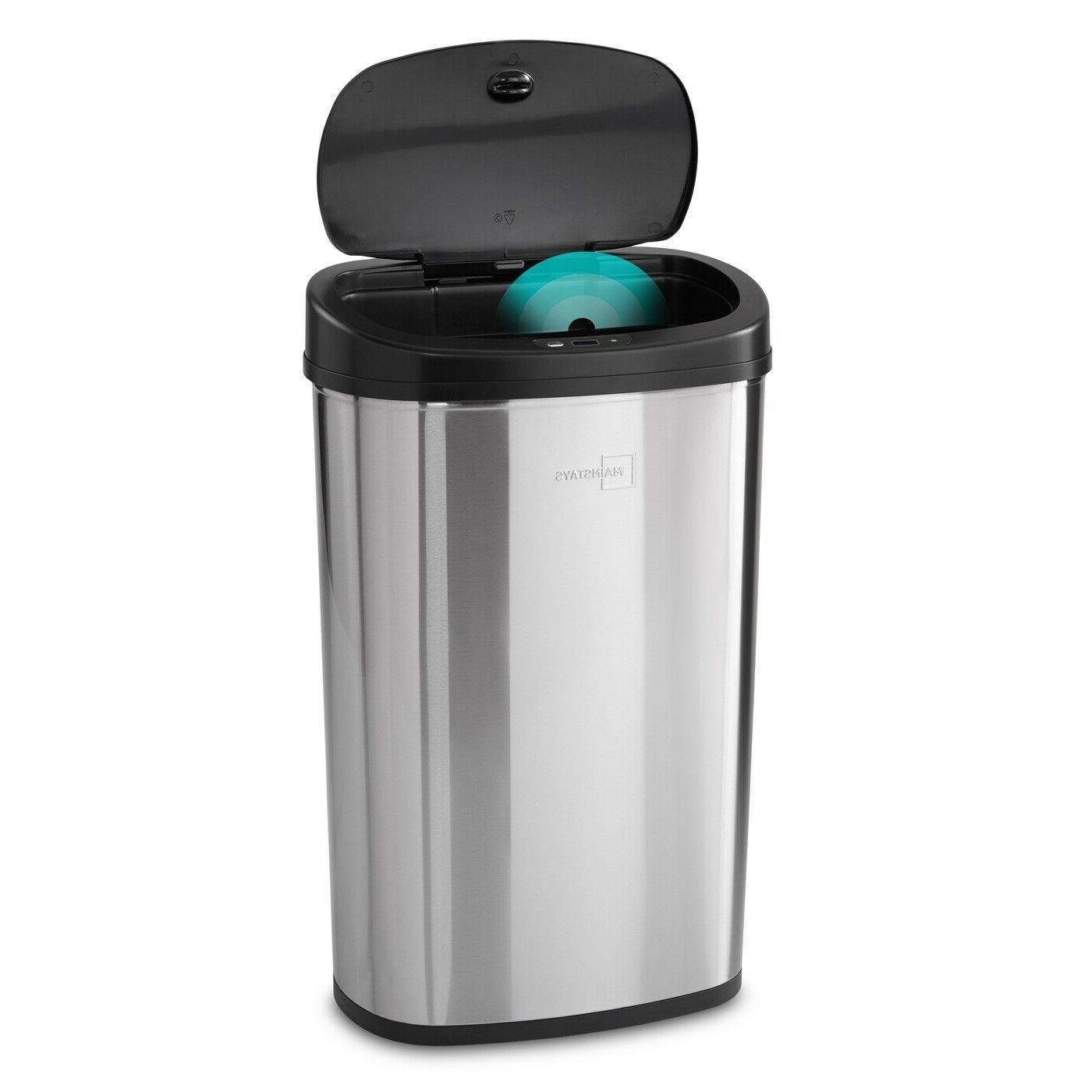 motion sensor trash can 13 gallon garbage