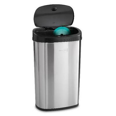 Stainless Steel Motion Sensor Trash Can 13 Gallon Touchless