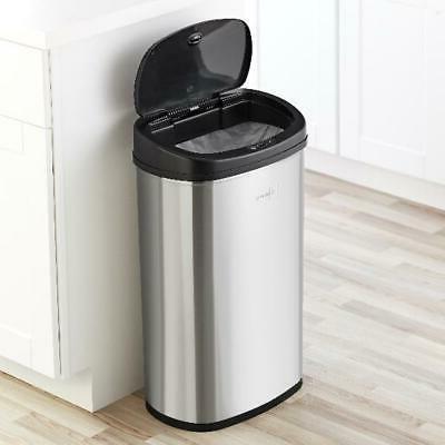 motion sensor trash can 13 gallon stainless