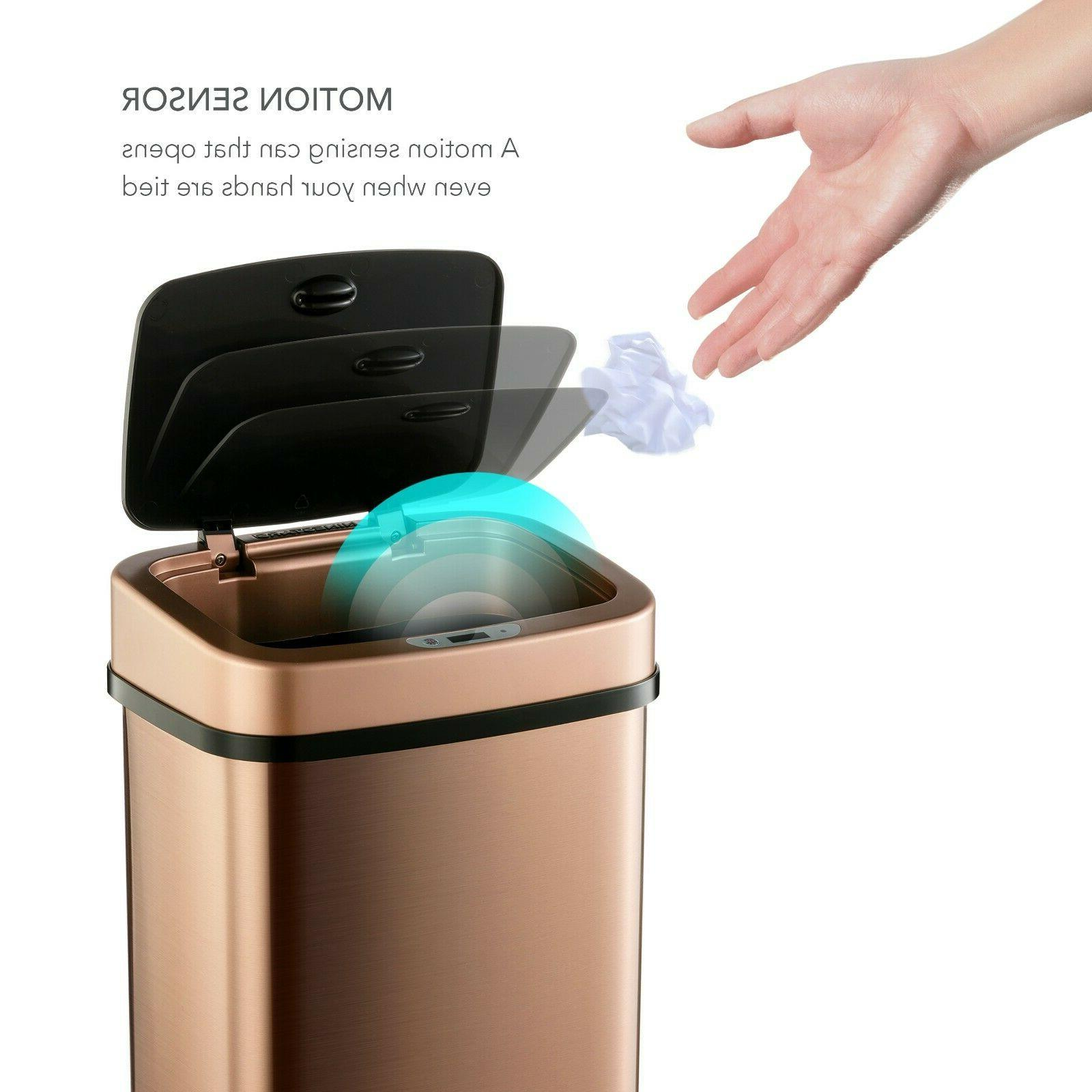 motion sensor trash can automatic touch less