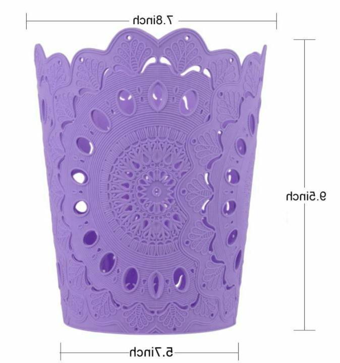 NEW 3 pc Hollow Pattern Paper Dustbin