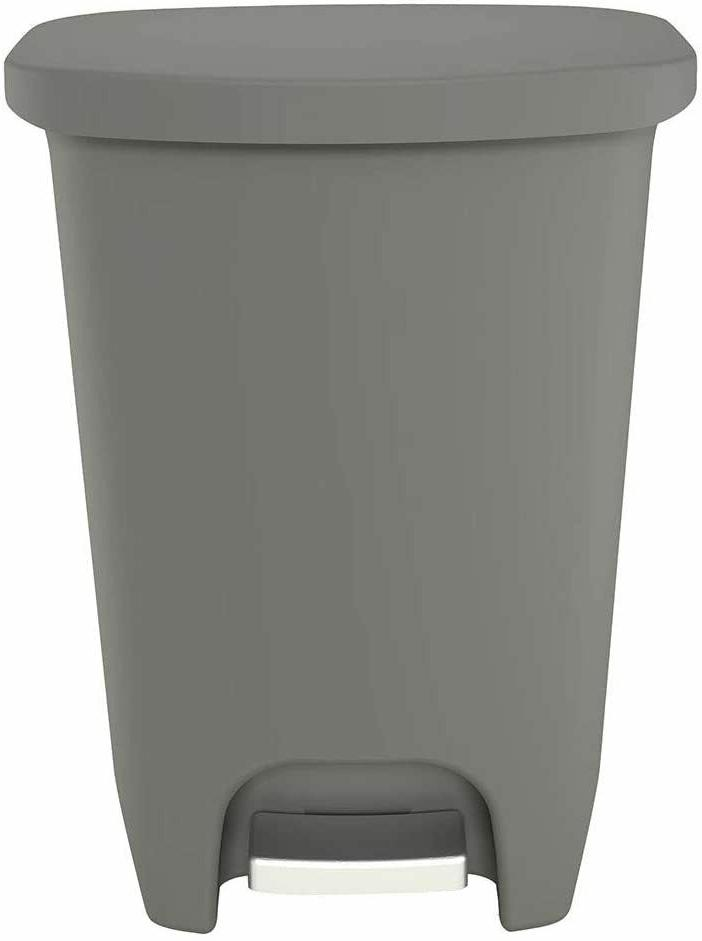 New GLD-74030 Step Trash Can with Clorox 50 Liter,