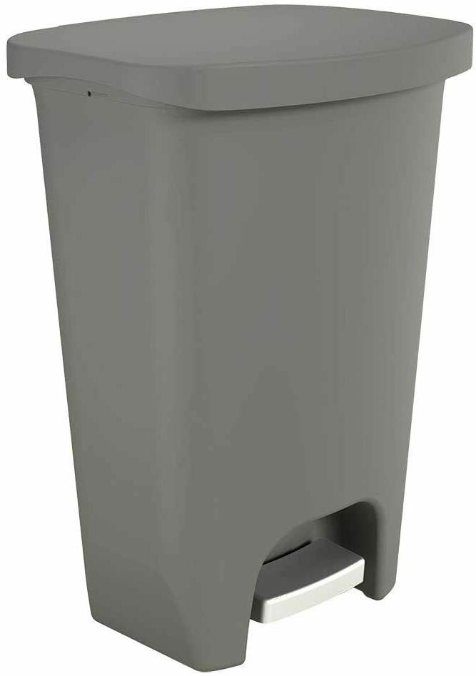 new gld 74030 plastic step trash can