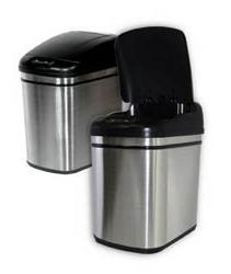 Nine Stars 6 gallon infrared hands-free trash can, made of s