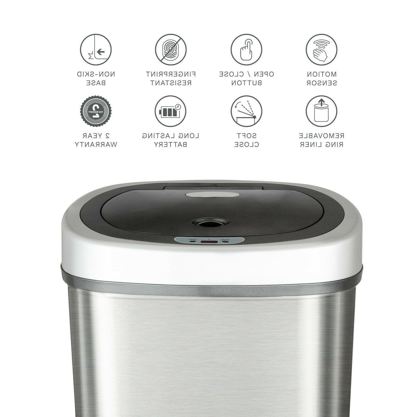 NineStars Motion Sensor 13.2-Gallon Trash Multi Color !