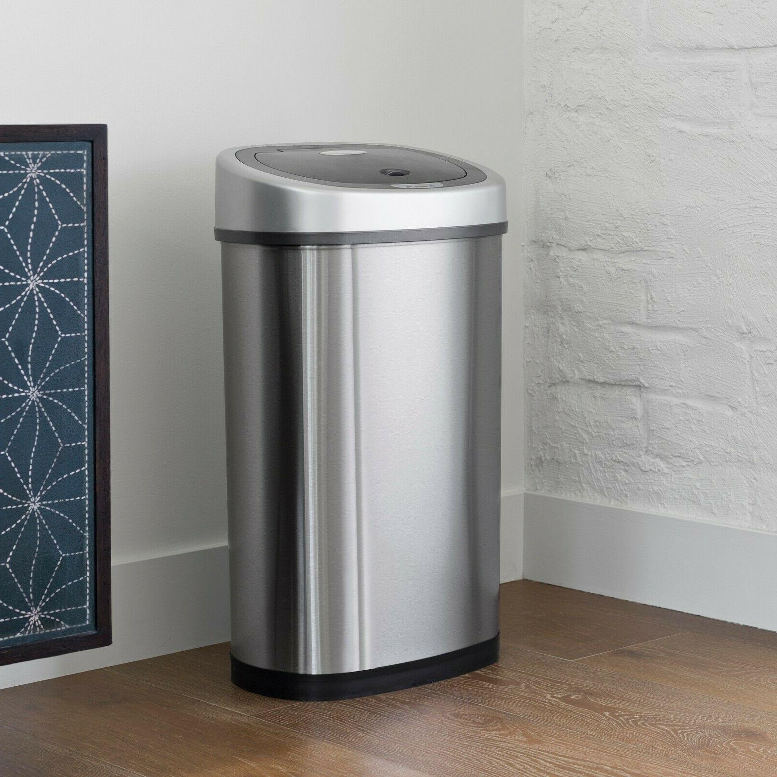 NineStars 13.2-Gallon Trash Can Multi Color