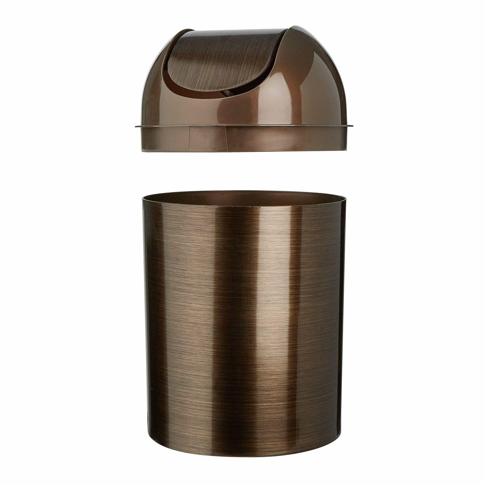 Oil Rubbed Bronze Trash Can Basket With