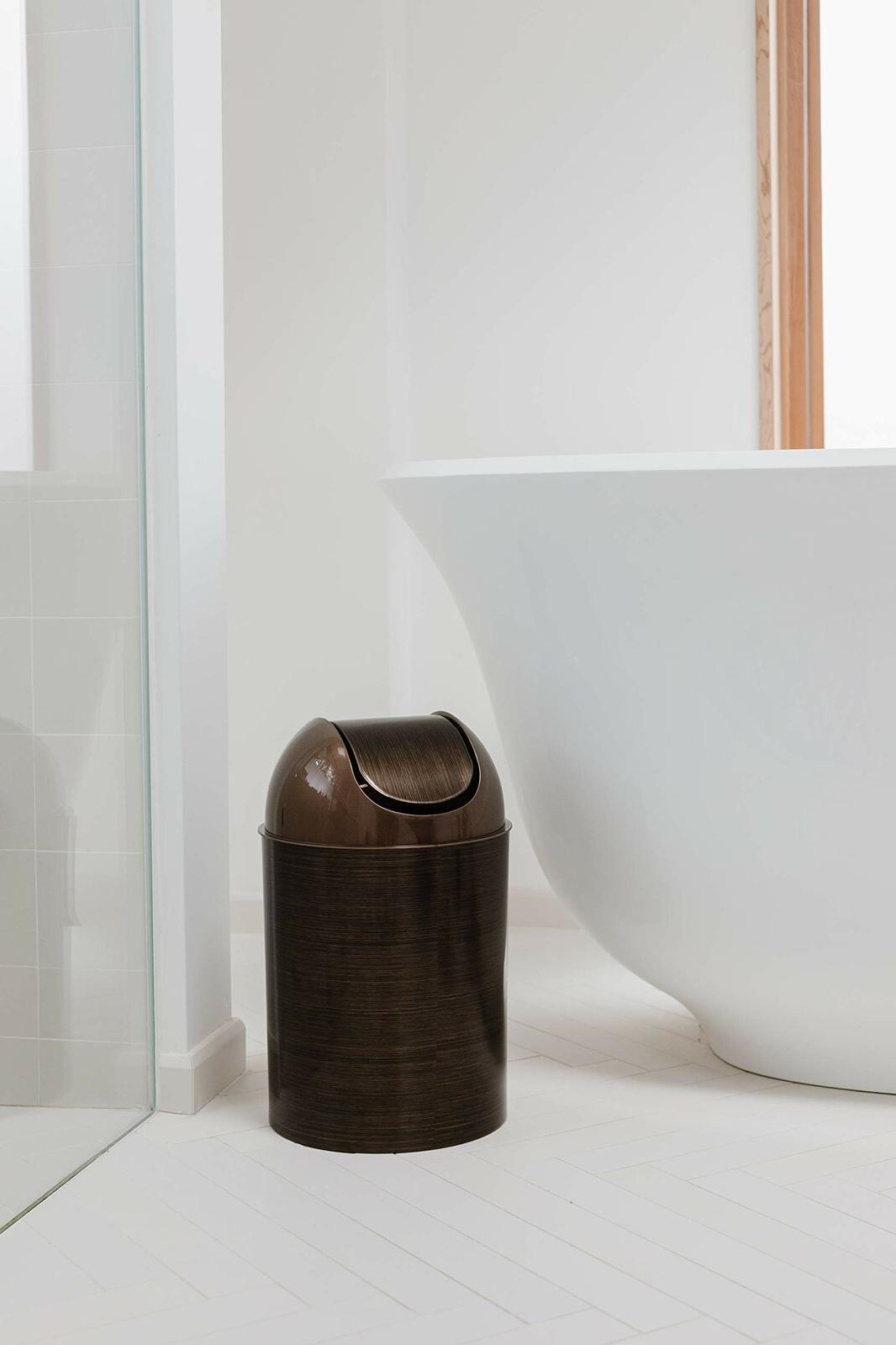 Oil Rubbed Bronze Can Wastebasket Basket With Bathroom