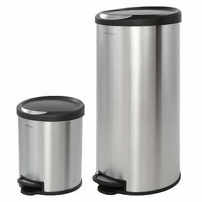 happimess Oscar Round 8-Gallon Step-Open Trash Can with FREE