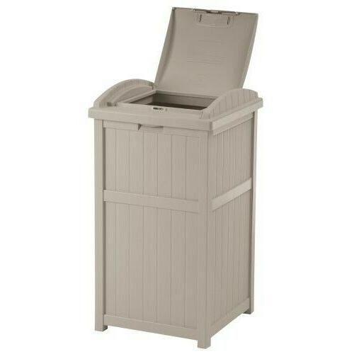 patio trash can hideaway outdoor garbage container