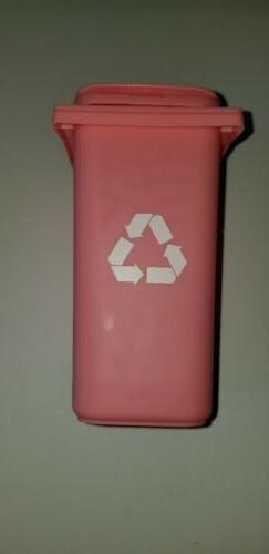 pencil holder /Barbie Trash /Garbage/ Recycle Can With Lid o