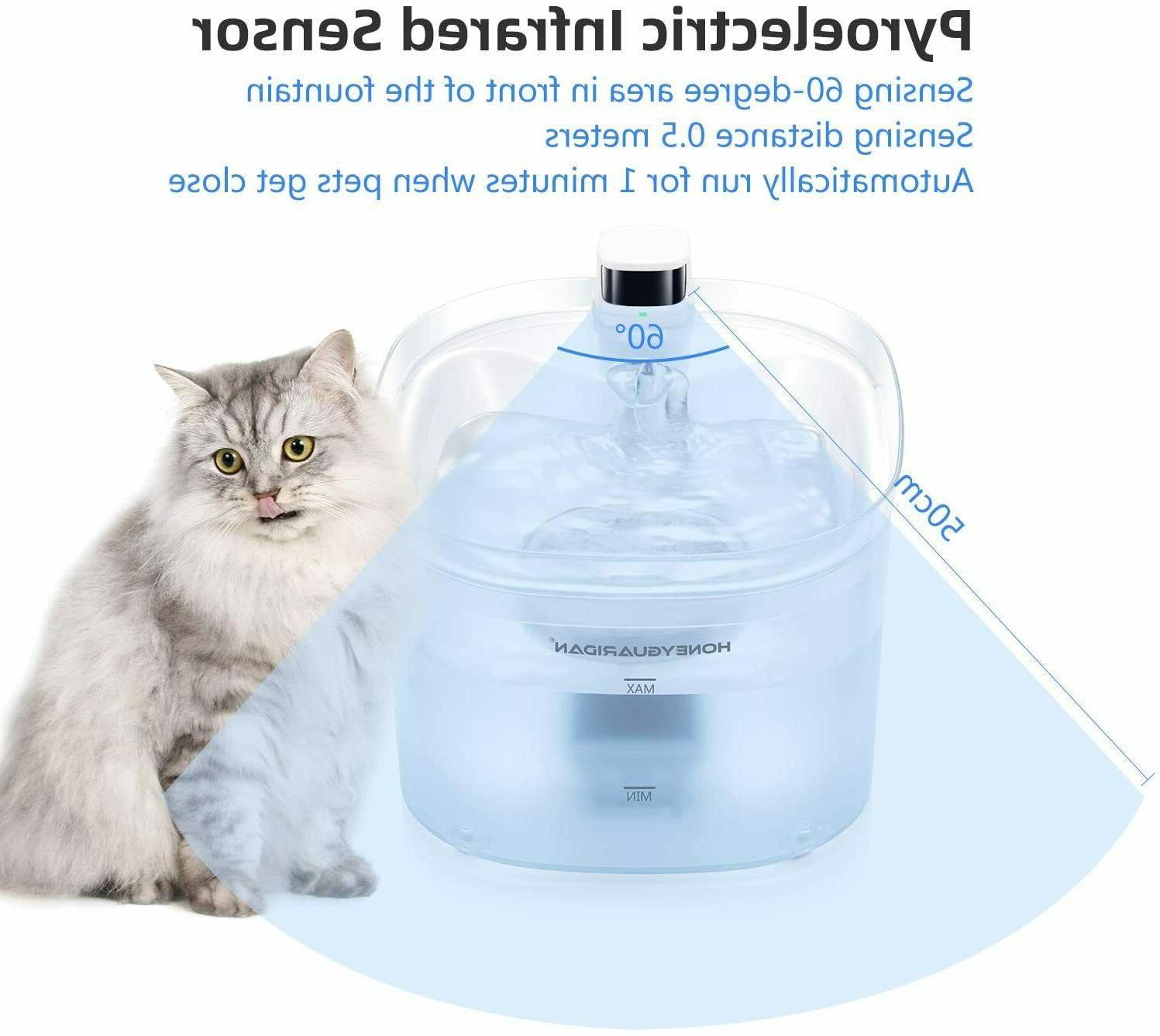 HoneyGuaridan Pet Battery Operated Power Cat Water