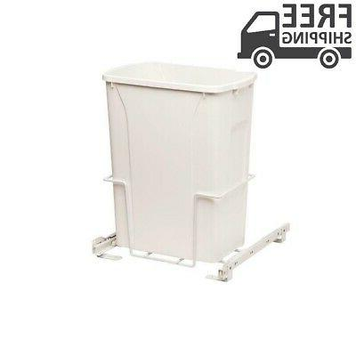 Plastic Out Trash Can White Kitchen Pantry