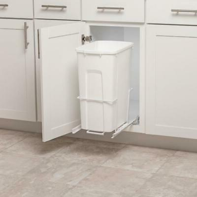 Plastic Pull Can White Kitchen Pantry Organizer