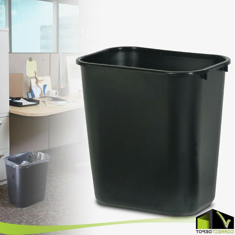 plastic trash waste can garbage recycle bin