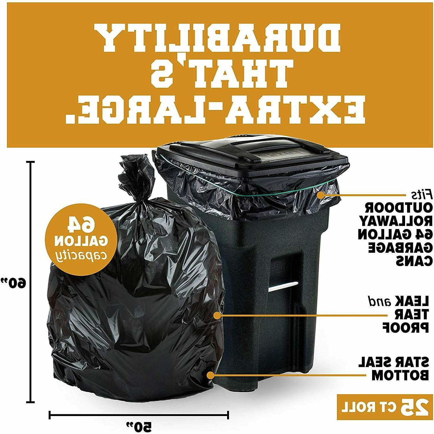 Plasticplace Gallon Can for │ 1.2 Mil Black
