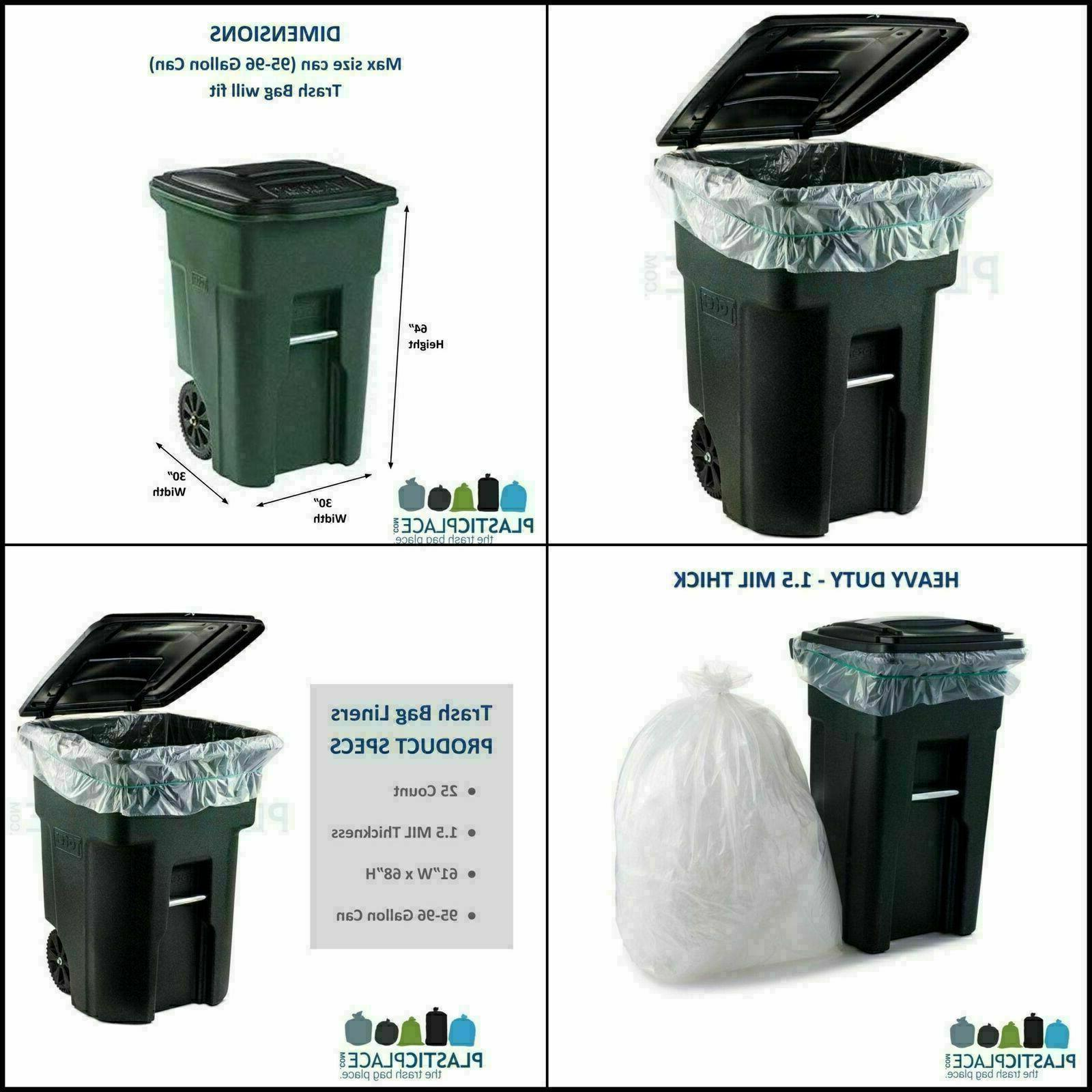 Plasticplace Gallon Garbage Can Heavy Trash Bags