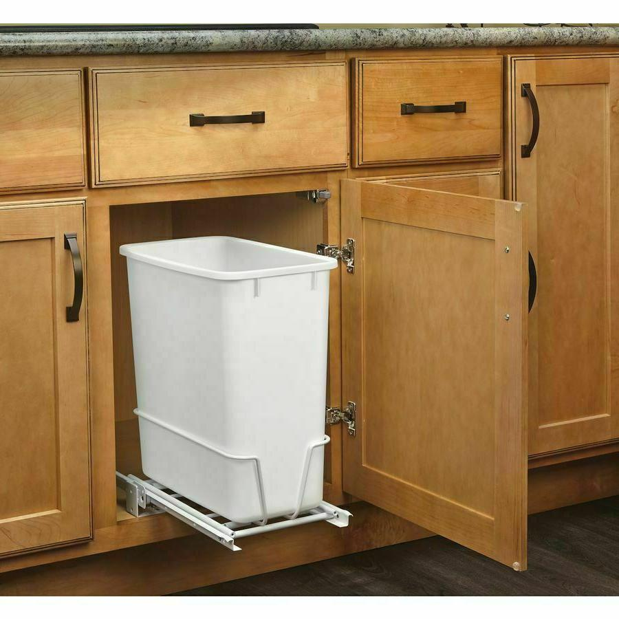 Pull Out Trash Can Bin Sliding Mount Under Sink Trash Can In
