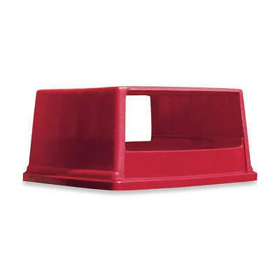rectangle red trash can