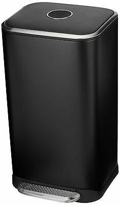 AmazonBasics Rectangle Soft-Close Trash Can - 32L, Black