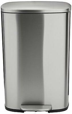 AmazonBasics Can - 50 Liter, Satin Nickel
