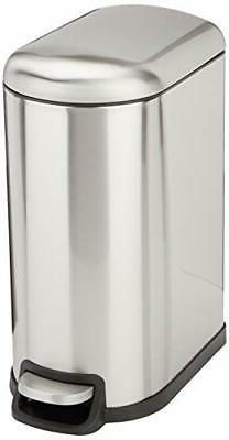 rectangle soft close trash can for narrow